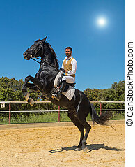 training of riding man