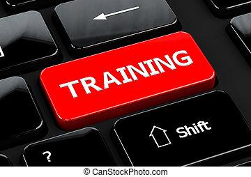 Training on computer keyboard background