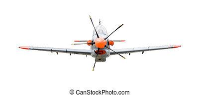 training plane (Orlik) isolated on white background with...
