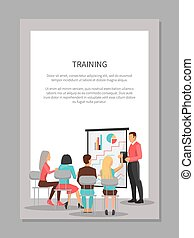 Training Poster with People at Business Meeting