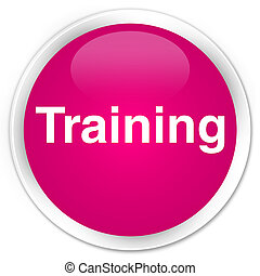 Training premium pink round button