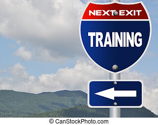 Training road sign