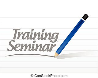 training seminar message illustration design over a white ...