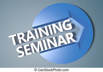 Training Seminar - 3d text render illustration concept with...