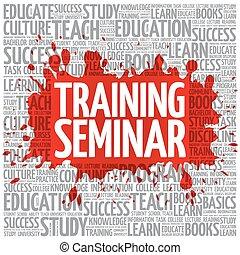 Training Seminar word cloud, education concept