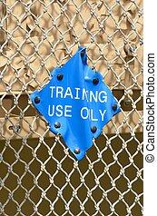 training sign