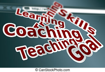 Training skill - Training, coaching words concept as...
