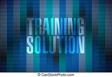 Training Solution binary sign concept
