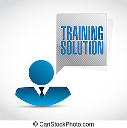 Training Solution businessman sign concept