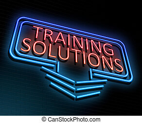 Training solutions concept.