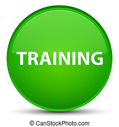 Training special green round button