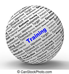 Training Sphere Definition Shows Instructing Or Education