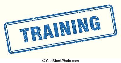 training stamp. training square grunge sign. training
