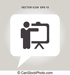 training teacher vector icon