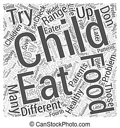 Training the Fussy Eater Word Cloud Concept
