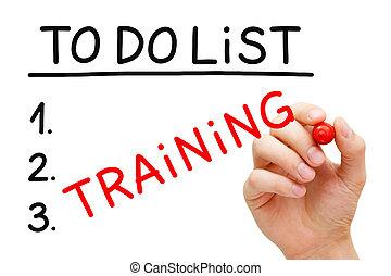 Training To Do List Concept
