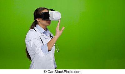 Training using virtual reality glasses. Medicine