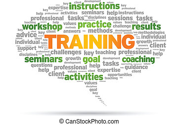 Training Word speech bubble illustration on white...