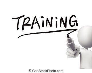 training word written by 3d man