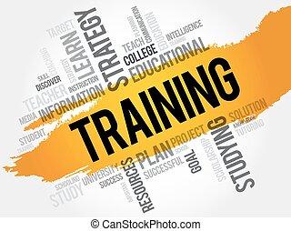 training, wort, wolke