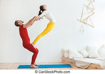 training., yoga, rodzina, lekkoatletyka