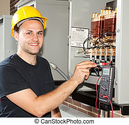 training, zu, sein, elektriker