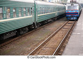 train`s, arrivée