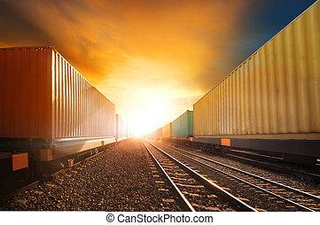 trainst, iparág, ellen, ügy, munkaszervezési, vidék, ég, nap...