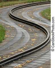 Traintrack curving in S form