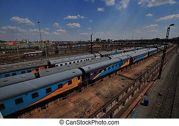 trainyard,  newtown,  Johann, coloré