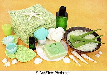 traitement, beauté, naturel, produits, skincare