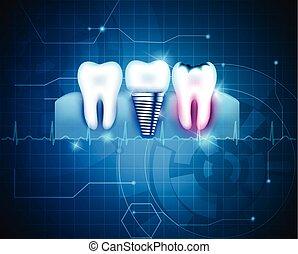 traitement dentaire, fond
