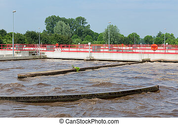 traitement eaux égout, plante, aération, de, les, wastewater.