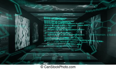 traitement, en mouvement, données, structure, chimique, monde médical, contre