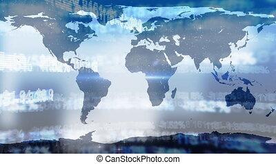 traitement, mondiale, données, carte, marché, stockage, contre