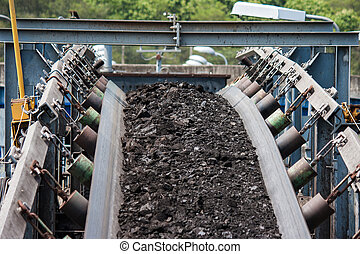 traitement, transport, ligne, charbon