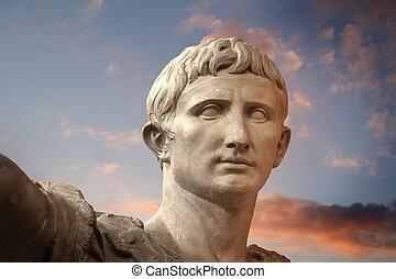 trajano, rome, sculpture, empereur