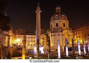 Trajan's column and Basilica Ulpia, Rome