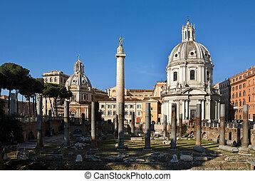 Trajan\'s Column and Foro di Traiano - Colonna di Traiano...