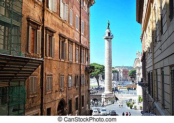 Trajan's Column (Italian: Colonna Traiana) is a Roman...