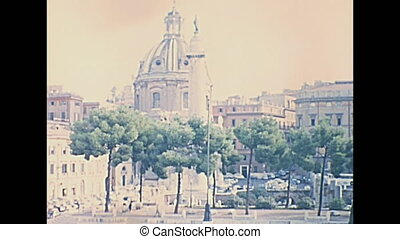 Trajan's Forum Rome - The famous ruins of the Trajan's...