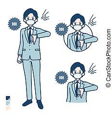 traje, simple, mask_booing, hombre de negocios