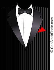 traje, vector, empresa / negocio, elegante