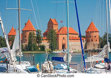 trakai, île, château