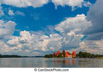 Trakai Island Castle near Vilnius, Lithuania