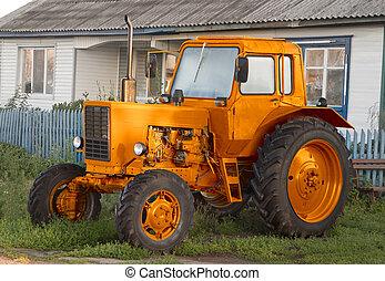 traktor, lantgård