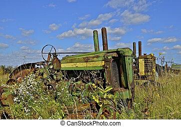 traktor, ogräsen