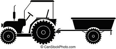 traktor släpvagn
