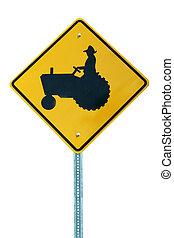 traktor, zeichen