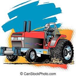 traktor, ziehen